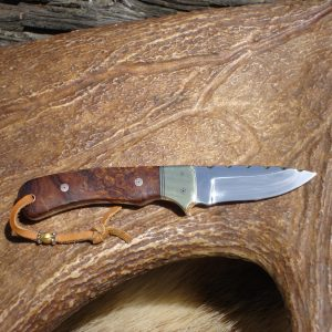 CUSTOM 440 STAINLESS STEEL IRON WOOD HANDLE SMALL HUNTER WITH FILE WORK